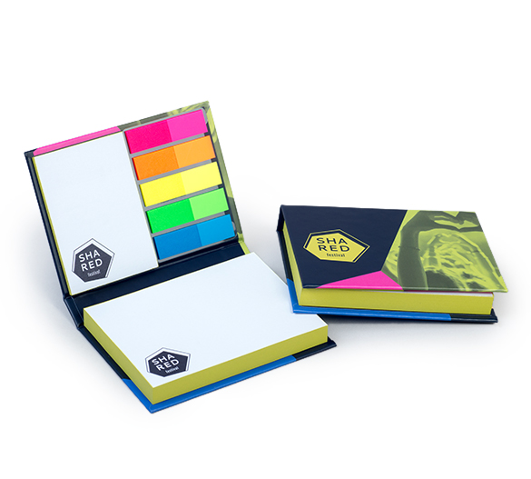 PM100-LUX Sticky notes set in hardcover LUX