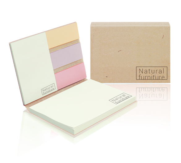 PM061-ECO Sticky notes set in softcover ECO