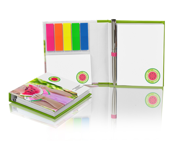 PM138 Sticky notes set in hardcover