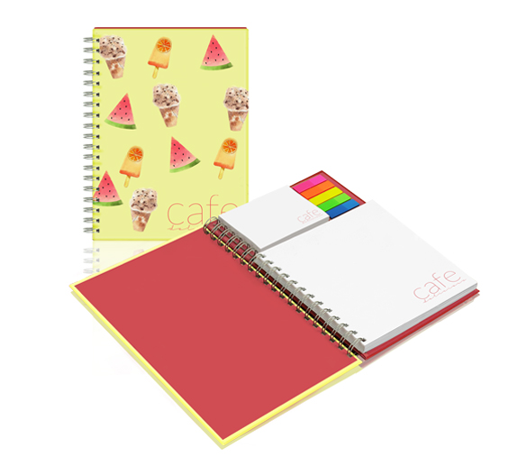 PM350_A4 Wire-o sticky notes set in hardcover