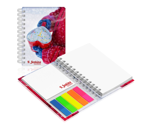 PM370a Wire-o sticky notes set in hardcover