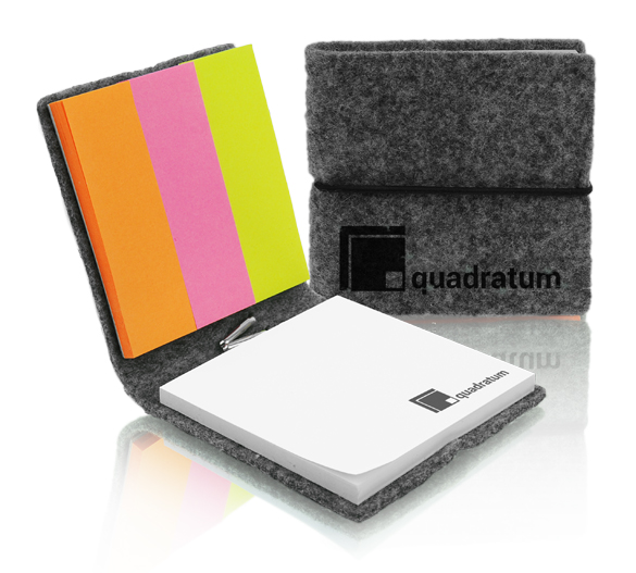 PM753 Sticky notes set in felt cover