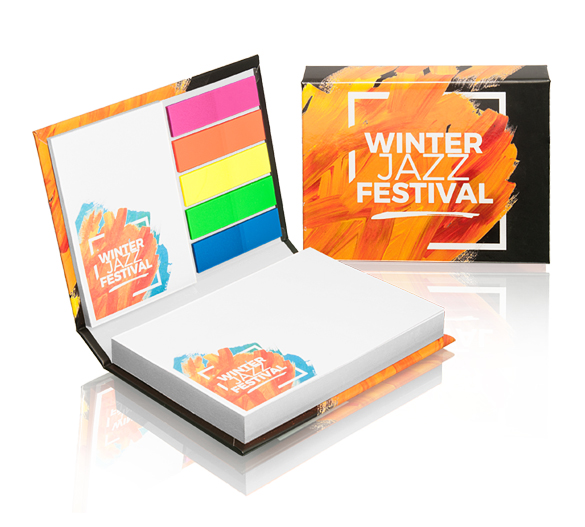 PM100 Sticky notes set in hardcover