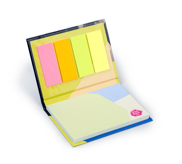 PM133 Sticky notes set in hardcover