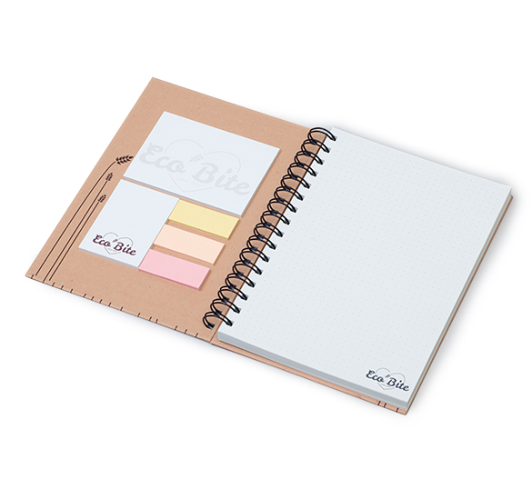 PM365-ECO Wire-o sticky notes set in hardcover ECO