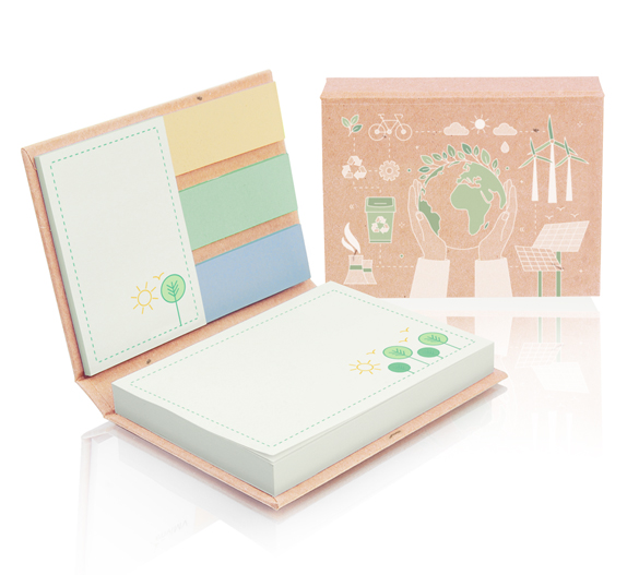 PM100-ECO Sticky notes set in hardcover